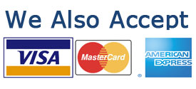 We accept visa, master, and American Express